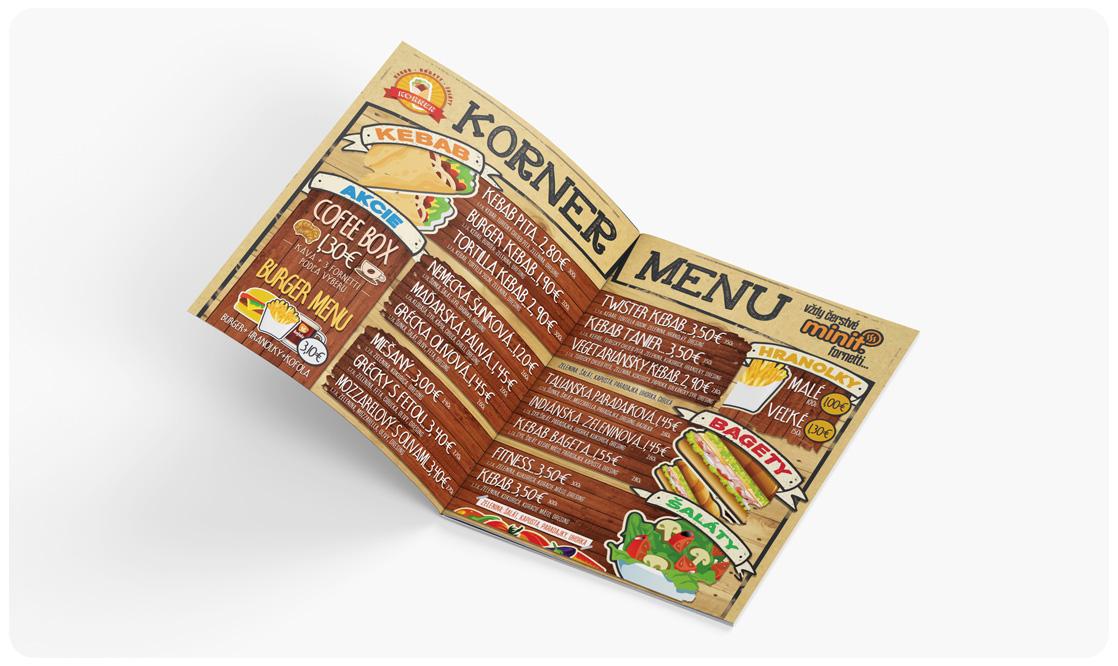 Korner menu
