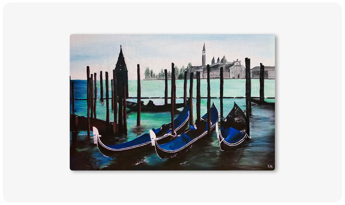 Benátky akryl